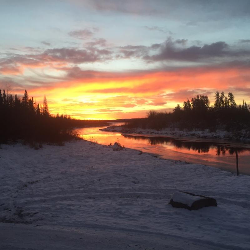 Muskeg Lake Sunrise 11/13/15 Deer Hunting Trip